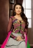 Karishma Kapoor grey and multi color anarkali