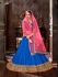 Party Wear Blue Pink Lehenga 2006