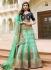 sea green art dupion silk wedding lehenga 13049
