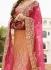 orange n pink art dupion silk wedding lehenga 13053