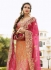 orange n pink art dupion silk wedding lehenga 13053