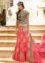 pink art dupion silk wedding lehenga 13055