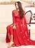 sonal chauhan georgette red party wear anarkali 4601
