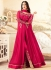 sonal chauhan georgette pink party wear anarkali 4604