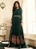 shilpa shetty dark green georgette anarkali suit 10010