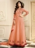 shilpa shetty peach georgette straight pant suit 10014