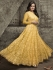 Dia mirza yellow net party wear anarkali 1003