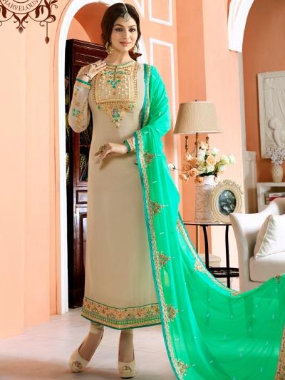Ayesha Takia dusty and green color party wear salwar kameez