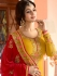Ayesha Takia mustard and red color party wear salwar kameez