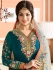 Ayesha Takia teal green color party wear salwar kameez