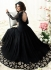 Jennifer Winget black georgette anarkali suit 1108