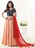 Jennifer Winget blue and peach georgette anarkali suit 1111