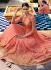 Peach georgette party wear ghagra lehenga kameez 11004