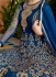Blue georgette party wear anarkali 11006