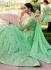 Green georgette party anarkali suit 11009