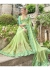 Green Faux Georgette Embroidered Wedding Saree 4204