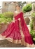 Magenta Chiffon Embroidered Wedding Saree 4208