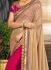 Pink and beige half and half saree 2005