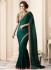 Green satin designer saree 40005