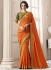 Orange art silk deisgner saree 40009