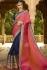blue pink wedding sarees 6012