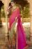 beige pink wedding sarees 6013