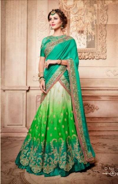 Party Wear Green Green Lehenga 4082