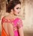 Party Wear Pink Orange Lehenga 4087