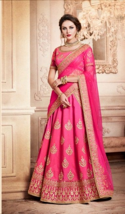 Party Wear Pink Lehenga 4088