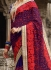 Party wear royal blue georgette saree 1953