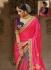 Party wear grey n pink half n half saree 1958