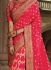 Party wear pink art silk saree 1960