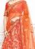 Coral pink pure banarasi silk a line wedding lehenga choli 1102