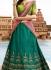 Green art raw silk a line wedding lehenga 506