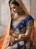 Royal blue silk wedding lehenga 4004