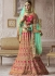 Hot pink banarasi silk wedding lehenga 4006