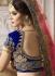 Royal blue and pink wedding lehenga 4008