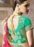 Pista green satin silk wedding lehenga 4009