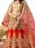 Red beige color silk wedding lehenga choli 13072