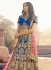 Royal blue and pink silk heavy work wedding lehenga choli 13073