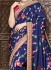 Blue pure banarasi silk wedding saree 1204