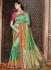 Turquoise pure banarasi silk saree 1207