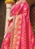 Pink pure banarasi silk wedding saree 1211