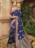 Blue pure banarasi silk wedding saree 1213