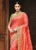 Peach pure banarasi silk wedding saree 1214