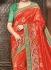 Orange pure banarasi silk wedding saree 1219
