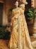 Cream pure banarasi silk wedding saree 1220