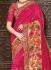 Dark pink pure banarasi silk wedding saree 1222