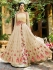 Peach georgette embroidered wedding anarkali z501