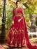 Maroon georgette embroidered wedding anarkali z502